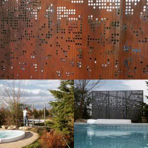 plasma cut landscape art garden art