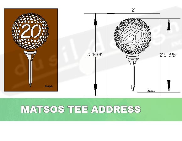 Golf Tee Custom Address in Corten Steel