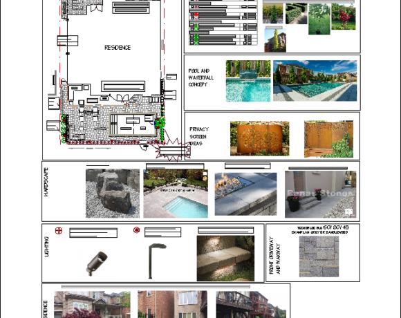 Landscape Design full with Pool