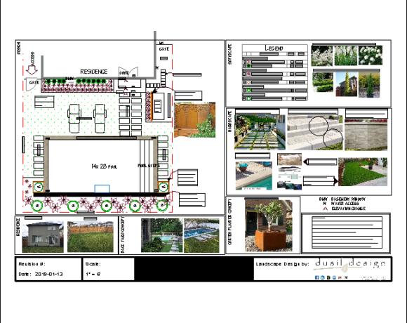 Landscape Design Half with Pool 2