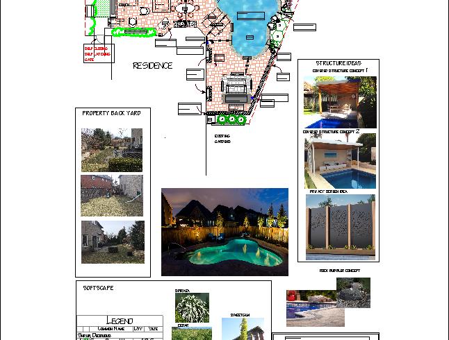 Landscape Design Half with Pool
