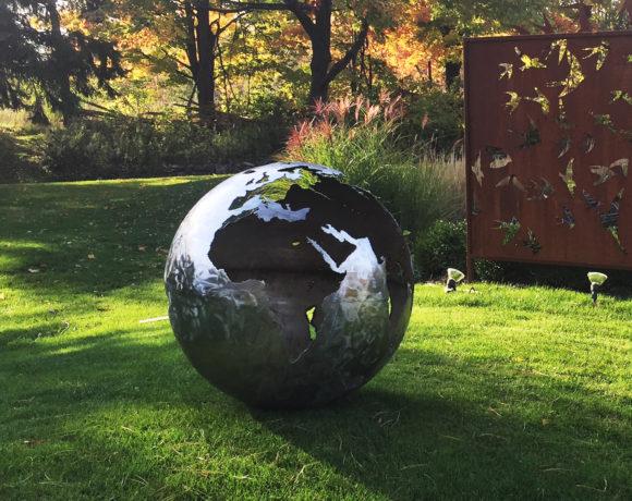 Corten Steel Globe Sculpture
