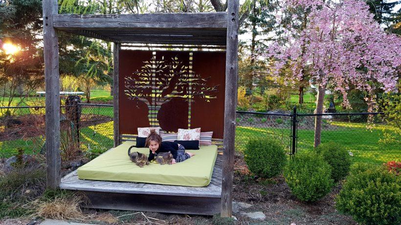 Corten Screen with Garden Bed
