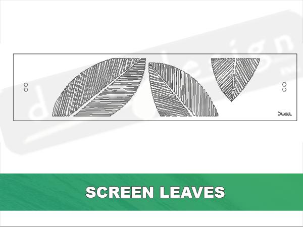 Deck Inset Corten Screen
