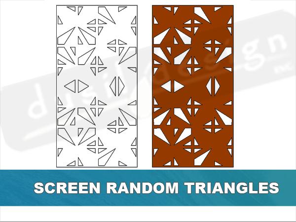 Screen Random Triangles