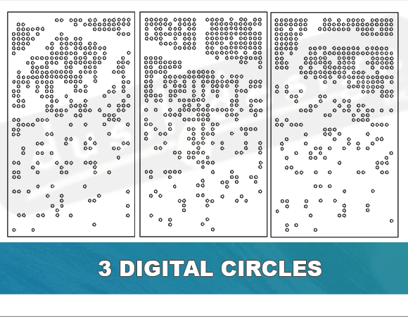 Modern Digital Circle Cutouts