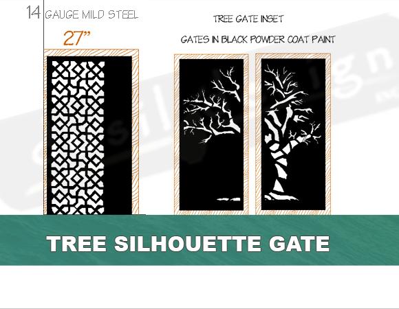Metal Tree Silhouette Gate